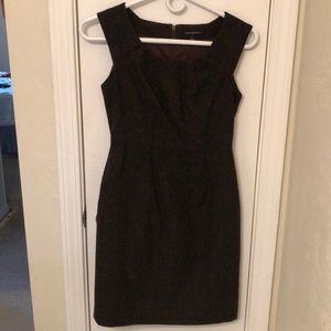 Brown wool knit dress